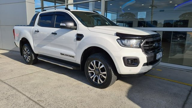 Used Ford Ranger PX MkIII 2019.00MY Wildtrak Ferntree Gully, 2019 Ford Ranger PX MkIII 2019.00MY Wildtrak White 10 Speed Sports Automatic Double Cab Pick Up