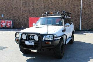2006 Nissan Patrol GU IV ST (4x4) White 4 Speed Automatic Wagon.