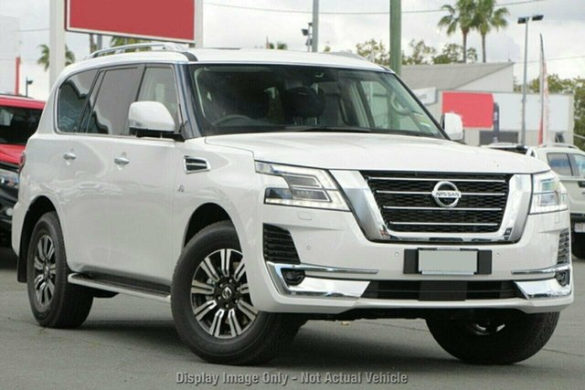 New Nissan Patrol Y62 MY21 TI-L Castle Hill, 2021 Nissan Patrol Y62 MY21 TI-L Moonstone White 7 Speed Sports Automatic Wagon