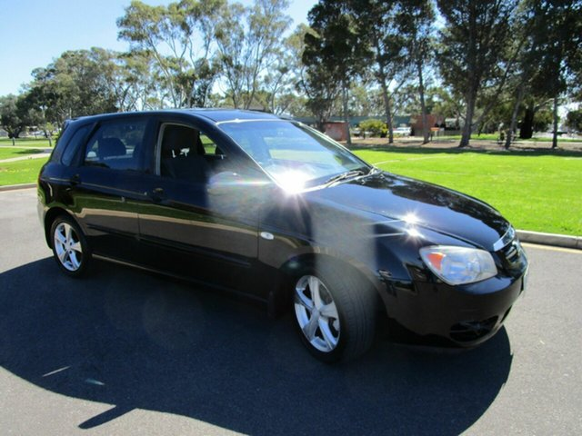 Used Kia Cerato LD Glenelg, 2006 Kia Cerato LD Black 4 Speed Automatic Hatchback