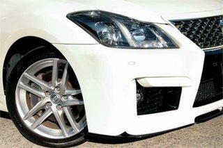 2010 Toyota Crown GRS204 Athlete White 6 Speed Automatic Sedan.