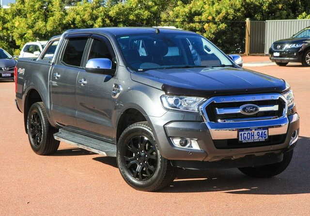 Used Ford Ranger PX MkII 2018.00MY XLT Double Cab Cannington, 2018 Ford Ranger PX MkII 2018.00MY XLT Double Cab Silver 6 Speed Sports Automatic Utility
