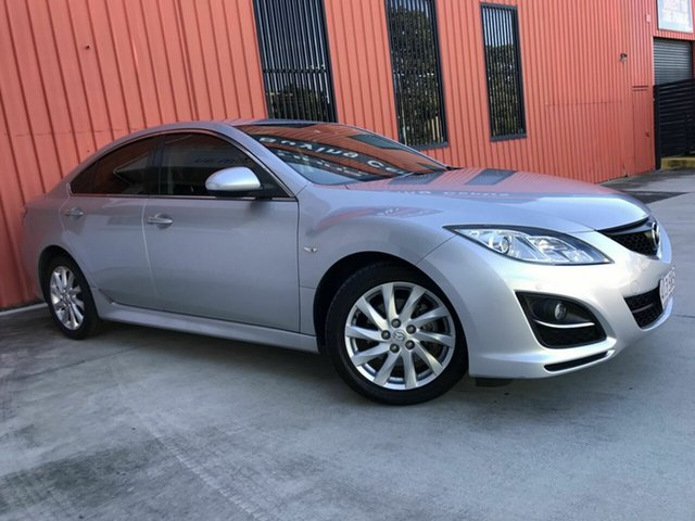 Used Mazda 6 GH1052 MY12 Touring Molendinar, 2012 Mazda 6 GH1052 MY12 Touring Silver 5 Speed Sports Automatic Sedan