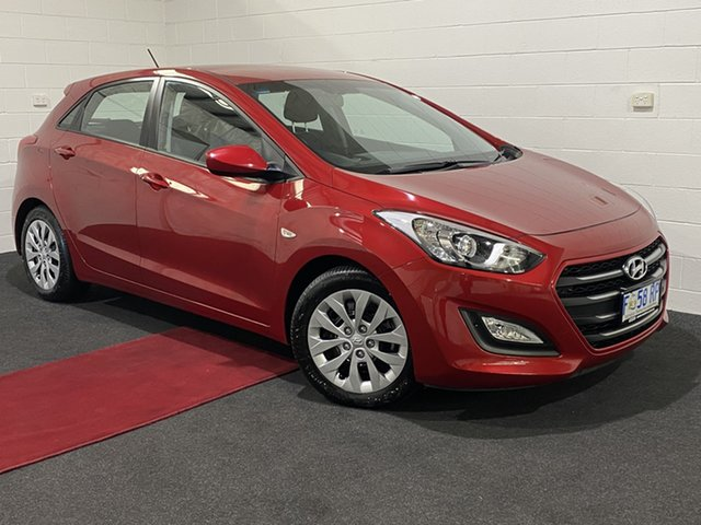 Used Hyundai i30 GD4 Series II MY17 Active Glenorchy, 2016 Hyundai i30 GD4 Series II MY17 Active Red 6 Speed Sports Automatic Hatchback