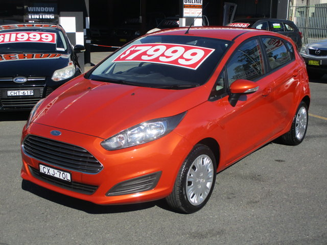 Used Ford Fiesta WZ Ambiente Coffs Harbour, 2014 Ford Fiesta WZ Ambiente Orange 5 Speed Manual Hatchback