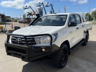2017 Toyota Hilux GUN126R SR Double Cab White/231017 6 Speed Manual Cab Chassis