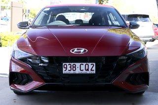 2021 Hyundai i30 CN7.V1 MY21 N Line D-CT Fiery Red 7 Speed Sports Automatic Dual Clutch Sedan.