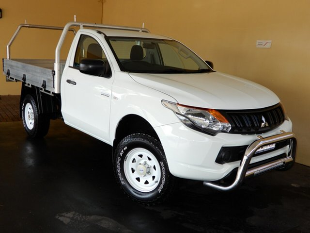 Used Mitsubishi Triton MQ MY18 GLX Toowoomba, 2018 Mitsubishi Triton MQ MY18 GLX White 5 Speed Manual Cab Chassis