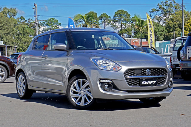 Demo Suzuki Swift AZ Series II GL Navigator Plus Springwood, 2021 Suzuki Swift AZ Series II GL Navigator Plus Silver 1 Speed Constant Variable Hatchback