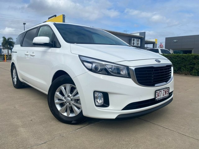 Used Kia Carnival YP MY16 SI Townsville, 2016 Kia Carnival YP MY16 SI White/141216 6 Speed Sports Automatic Wagon