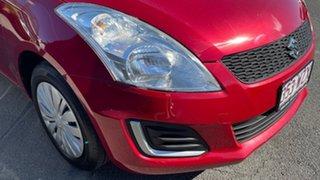 2016 Suzuki Swift FZ MY15 GL Red 5 Speed Manual Hatchback.