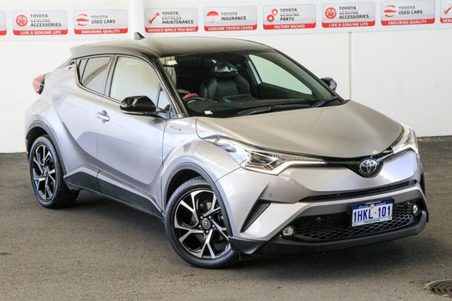 Pre-Owned Toyota C-HR NGX10R Koba S-CVT 2WD Myaree, 2019 Toyota C-HR NGX10R Koba S-CVT 2WD Shadow Platinum & Black Roof 7 Speed Constant Variable Wagon