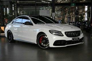 2019 Mercedes-Benz C-Class W205 809MY C63 AMG SPEEDSHIFT MCT S White 9 Speed Sports Automatic Sedan.