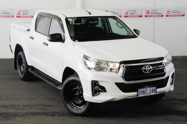 Pre-Owned Toyota Hilux GUN126R SR Double Cab Myaree, 2019 Toyota Hilux GUN126R SR Double Cab Glacier White 6 Speed Sports Automatic Utility