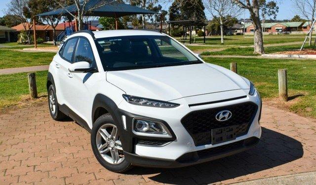 Used Hyundai Kona OS.2 MY19 Active 2WD Ingle Farm, 2019 Hyundai Kona OS.2 MY19 Active 2WD White 6 Speed Sports Automatic Wagon