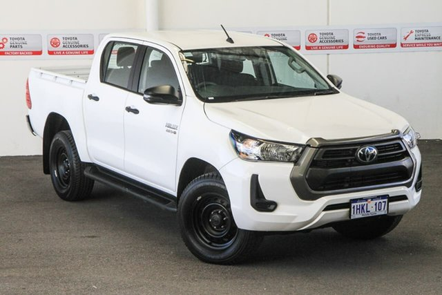 Pre-Owned Toyota Hilux GUN126R SR Double Cab Myaree, 2020 Toyota Hilux GUN126R SR Double Cab Glacier White 6 Speed Sports Automatic Utility