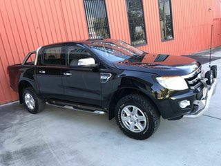 2012 Ford Ranger PX XLT Double Cab Black 6 Speed Sports Automatic Utility