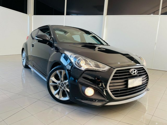Used Hyundai Veloster FS4 Series II SR Coupe D-CT Turbo Deer Park, 2015 Hyundai Veloster FS4 Series II SR Coupe D-CT Turbo Black 7 Speed Sports Automatic Dual Clutch