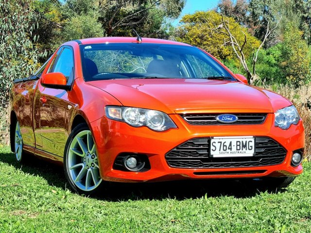Used Ford Falcon FG MkII XR6 Ute Super Cab Morphett Vale, 2013 Ford Falcon FG MkII XR6 Ute Super Cab Orange 6 Speed Sports Automatic Utility