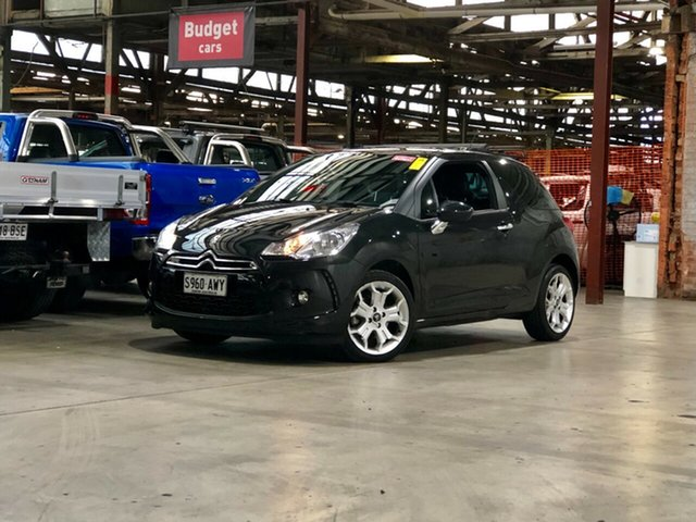 Used Citroen DS3 DStyle Mile End South, 2010 Citroen DS3 DStyle Black 4 Speed Sports Automatic Hatchback