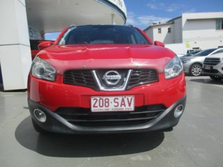 2010 Nissan Dualis J10 Series II TI (4x4) Red 6 Speed CVT Auto Sequential Wagon