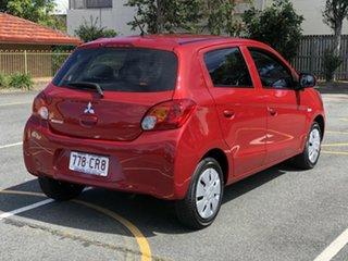 2015 Mitsubishi Mirage LA MY15 ES Red 1 Speed Constant Variable Hatchback.