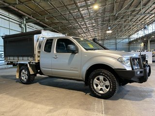 2008 Nissan Navara D40 RX King Cab Silver 6 Speed Manual Cab Chassis.