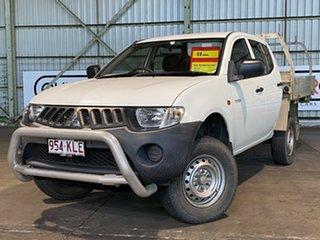 2007 Mitsubishi Triton ML MY08 GLX Double Cab 4x2 White 5 Speed Manual Utility.
