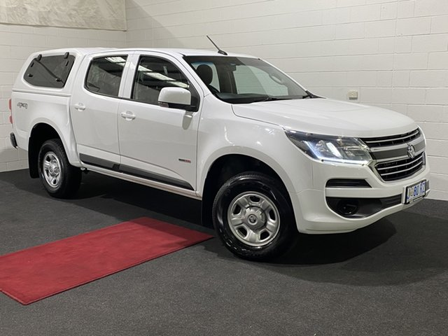 Used Holden Colorado RG MY18 LS Crew Cab 4x2 Glenorchy, 2018 Holden Colorado RG MY18 LS Crew Cab 4x2 Summit White 6 Speed Sports Automatic Cab Chassis