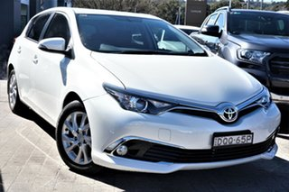 2017 Toyota Corolla ZRE182R Ascent Sport White 6 Speed Manual Hatchback.