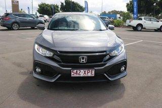 2017 Honda Civic 10th Gen MY17 VTi-S Modern Steel 1 Speed Constant Variable Hatchback.