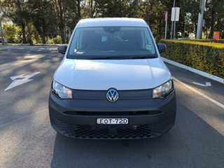 2021 Volkswagen Caddy SKN MY21 TDI280 Cargo SWB White 6 Speed Manual Van.