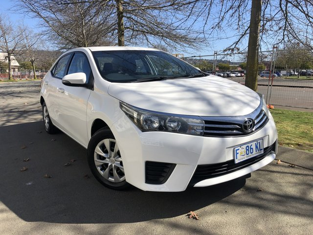 Used Toyota Corolla ZRE172R Ascent S-CVT Launceston, 2016 Toyota Corolla ZRE172R Ascent S-CVT White 7 Speed Constant Variable Sedan