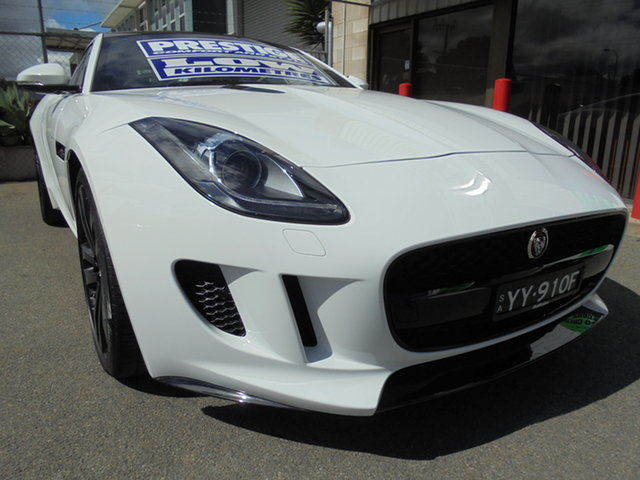 Used Jaguar F-TYPE X152 MY16 Coupe Edwardstown, 2015 Jaguar F-TYPE X152 MY16 Coupe White 8 Speed Sports Automatic Coupe