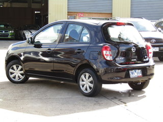 2011 Nissan Micra K13 ST Black Eye Purple 4 Speed Automatic Hatchback.