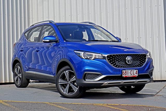Demo MG ZS EV AZS1 MY21 Essence Springwood, 2020 MG ZS EV AZS1 MY21 Essence Blue 1 Speed Reduction Gear Wagon