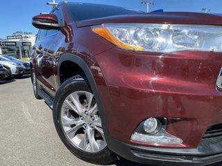 2014 Toyota Kluger GSU55R GXL AWD Red 6 Speed Sports Automatic Wagon.