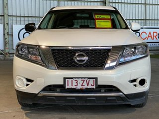 2013 Nissan Pathfinder R52 MY14 ST X-tronic 2WD White 1 Speed Constant Variable Wagon