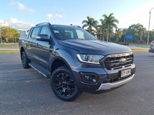 Used Ford Ranger PX MkIII 2021.25MY Wildtrak Townsville, 2021 Ford Ranger PX MkIII 2021.25MY Wildtrak Meteor Grey 10 Speed Sports Automatic