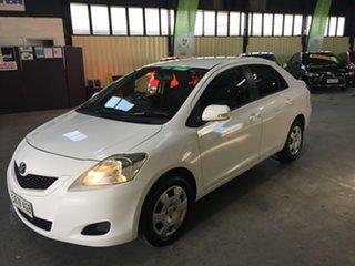 2010 Toyota Yaris NCP93R 08 Upgrade YRS White 4 Speed Automatic Sedan