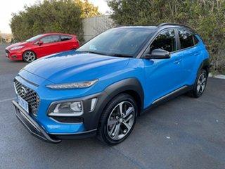 2018 Hyundai Kona OS MY18 Highlander 2WD Blue Lagoon & Black Roof 6 Speed Sports Automatic Wagon