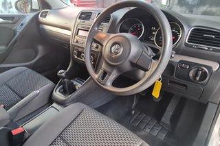 2011 Volkswagen Golf 1K MY12 77 TSI White 6 Speed Manual Hatchback.