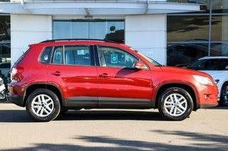 2009 Volkswagen Tiguan 5N MY09 103TDI 4MOTION Red 6 Speed Sports Automatic Wagon.