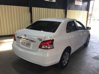 2010 Toyota Yaris NCP93R 08 Upgrade YRS White 4 Speed Automatic Sedan.