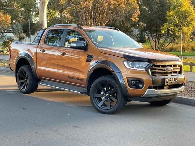 Demo Ford Ranger PX MkIII 2021.75MY Wildtrak St Marys, 2021 Ford Ranger PX MkIII 2021.75MY Wildtrak Saber 10 Speed Sports Automatic Double Cab Pick Up