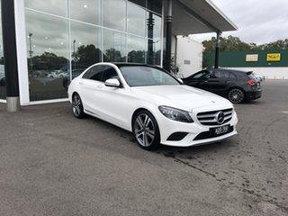 2018 Mercedes-Benz C-Class W205 809MY C220 d 9G-Tronic White 9 Speed Sports Automatic Sedan.