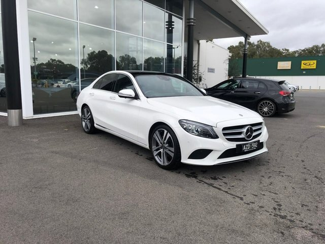 Used Mercedes-Benz C-Class W205 809MY C220 d 9G-Tronic Epsom, 2018 Mercedes-Benz C-Class W205 809MY C220 d 9G-Tronic White 9 Speed Sports Automatic Sedan