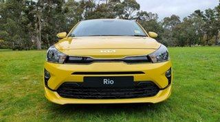 2021 Kia Rio YB MY22 SX Mighty Yellow 6 Speed Automatic Hatchback.
