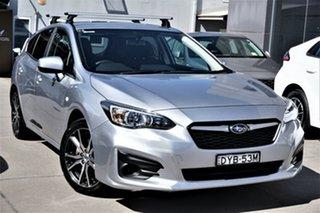 2018 Subaru Impreza G5 MY18 2.0i CVT AWD Silver 7 Speed Constant Variable Hatchback.