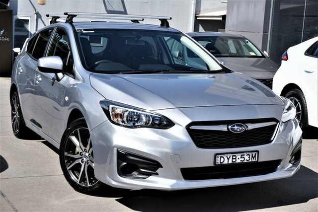 Used Subaru Impreza G5 MY18 2.0i CVT AWD Phillip, 2018 Subaru Impreza G5 MY18 2.0i CVT AWD Silver 7 Speed Constant Variable Hatchback